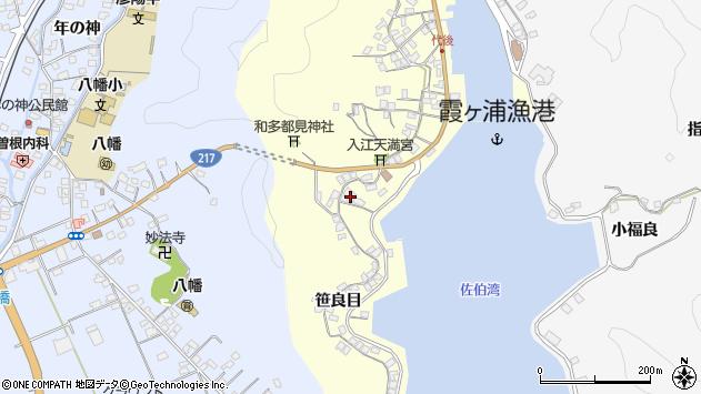 大分県佐伯市霞ケ浦276周辺の地図