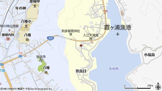 大分県佐伯市霞ケ浦281周辺の地図