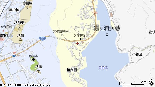 大分県佐伯市霞ケ浦296周辺の地図