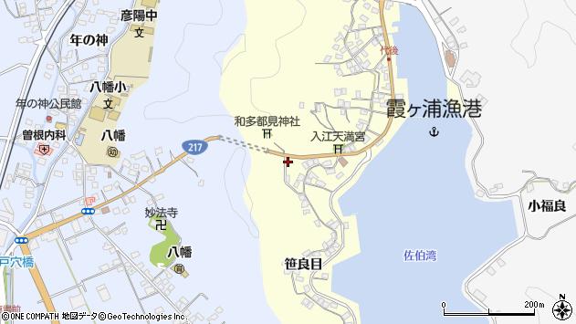 大分県佐伯市霞ケ浦14周辺の地図