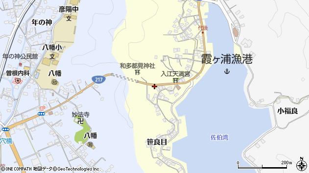 大分県佐伯市霞ケ浦12周辺の地図