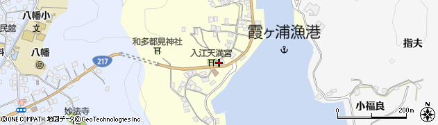 大分県佐伯市霞ケ浦302周辺の地図