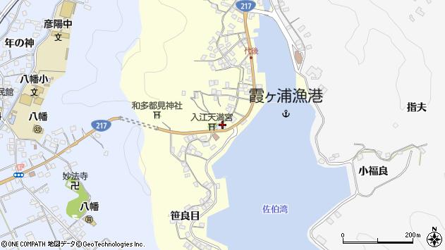 大分県佐伯市霞ケ浦305周辺の地図