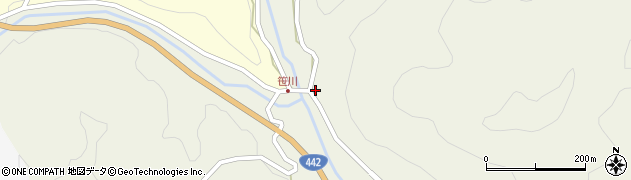 大分県竹田市福原639周辺の地図