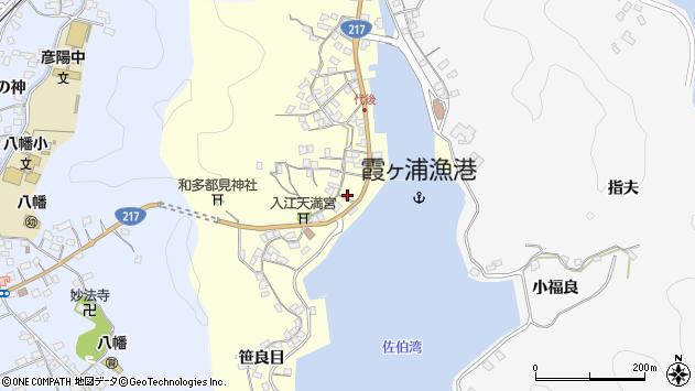 大分県佐伯市霞ケ浦317周辺の地図