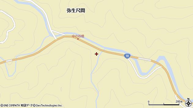 大分県佐伯市弥生大字尺間2257周辺の地図