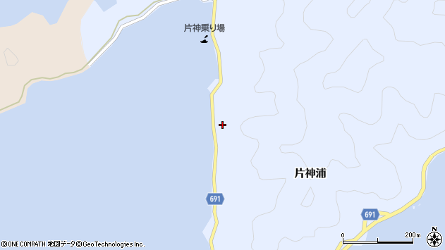 大分県佐伯市片神浦558周辺の地図