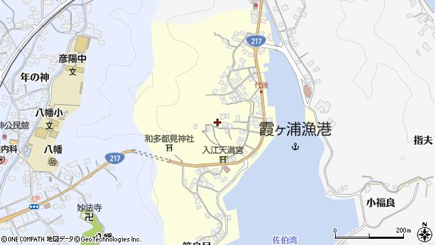 大分県佐伯市霞ケ浦376周辺の地図