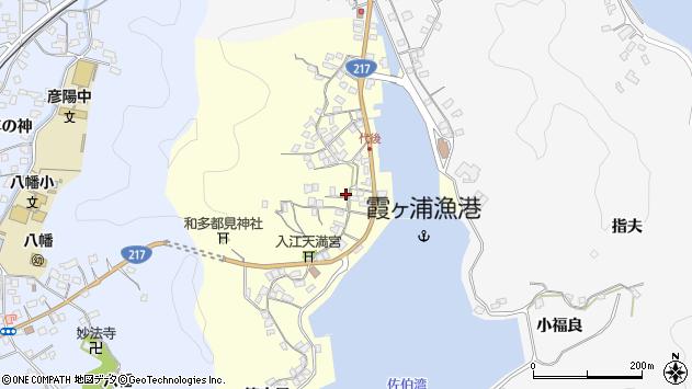 大分県佐伯市霞ケ浦351周辺の地図