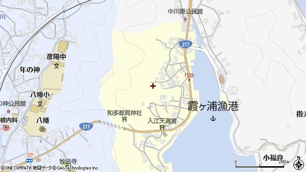 大分県佐伯市霞ケ浦代後東周辺の地図