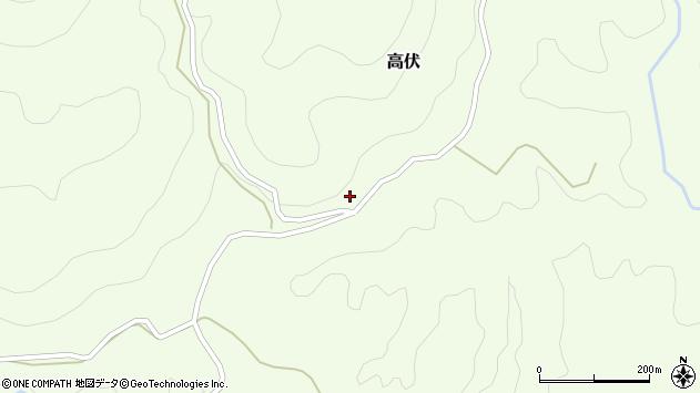 大分県竹田市高伏35周辺の地図