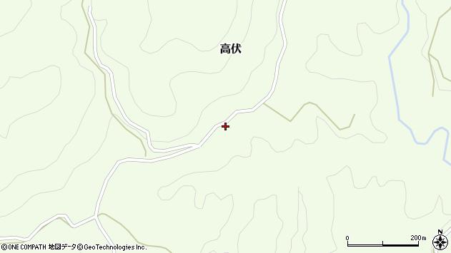 大分県竹田市高伏539周辺の地図