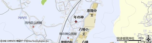 大分県佐伯市戸穴年の神区周辺の地図