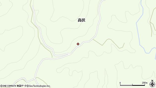 大分県竹田市高伏718周辺の地図