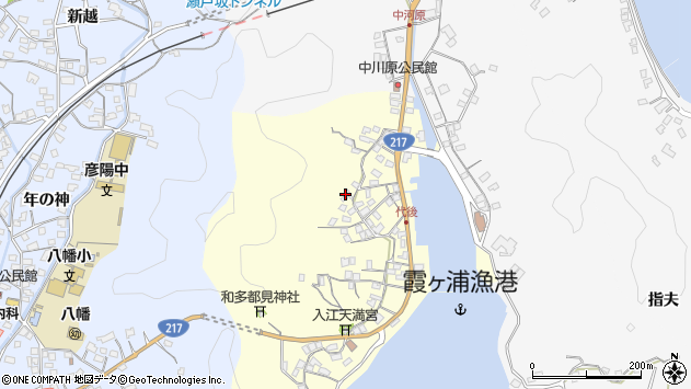 大分県佐伯市霞ケ浦575周辺の地図