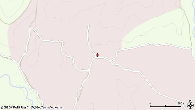大分県竹田市枝44周辺の地図