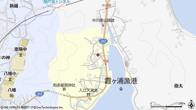 大分県佐伯市霞ケ浦545周辺の地図