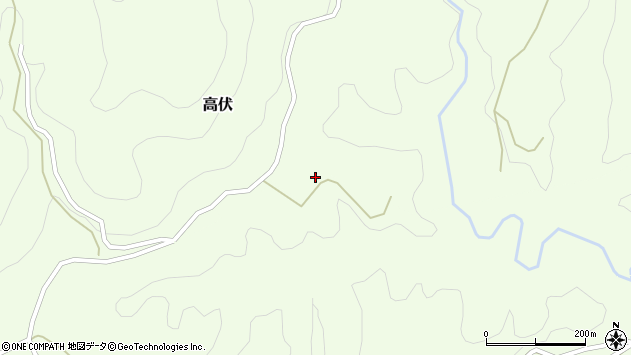 大分県竹田市高伏756周辺の地図