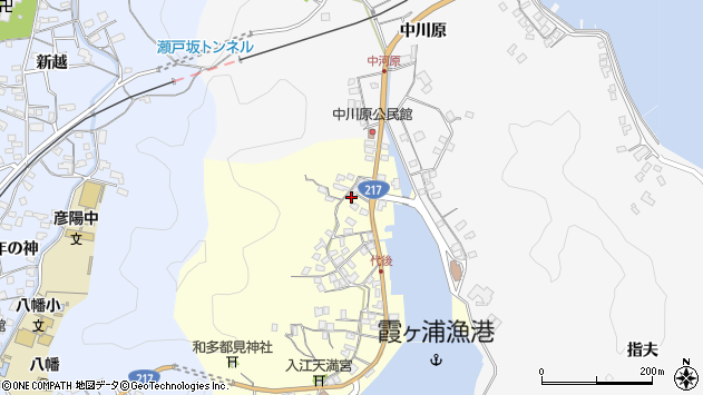 大分県佐伯市霞ケ浦560周辺の地図