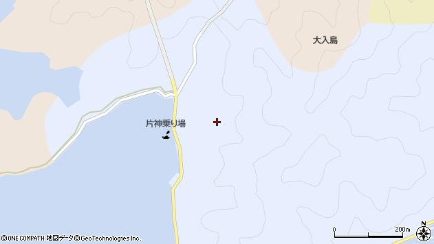 大分県佐伯市片神浦片神区周辺の地図