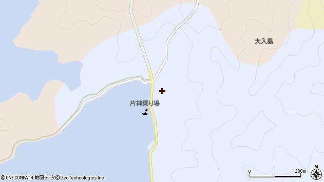 大分県佐伯市片神浦377周辺の地図