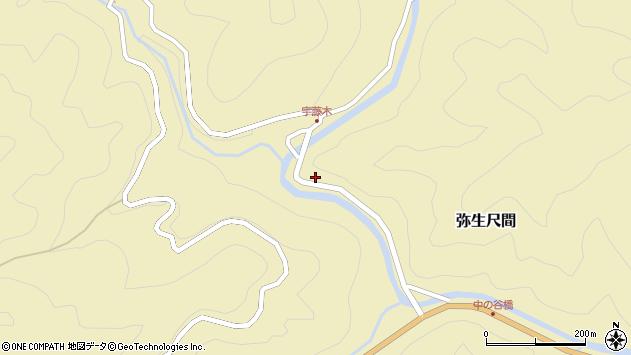 大分県佐伯市弥生大字尺間1692周辺の地図