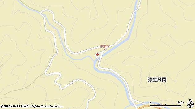 大分県佐伯市弥生大字尺間2149周辺の地図