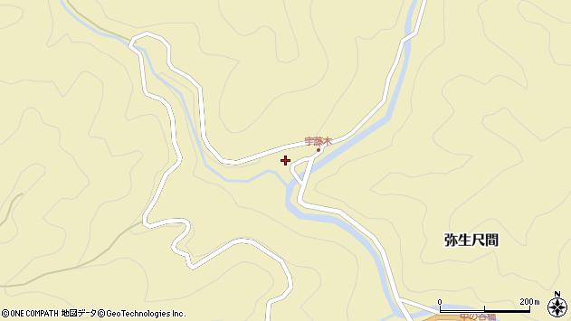 大分県佐伯市弥生大字尺間2152周辺の地図