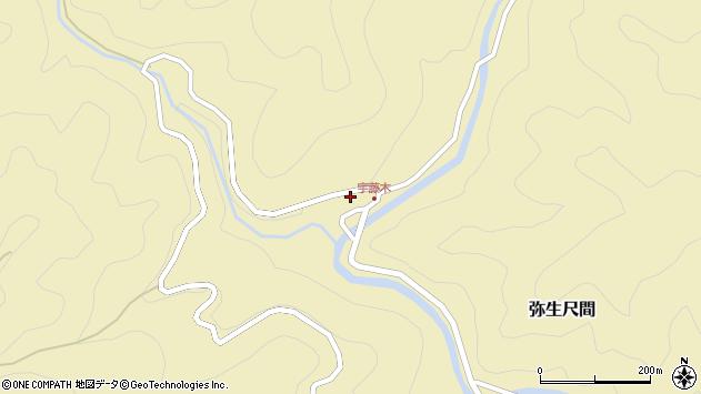 大分県佐伯市弥生大字尺間3892周辺の地図