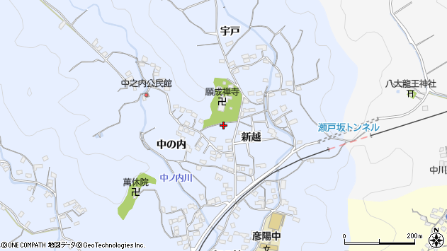 大分県佐伯市戸穴1704周辺の地図