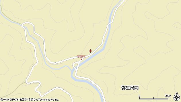 大分県佐伯市弥生大字尺間2083周辺の地図
