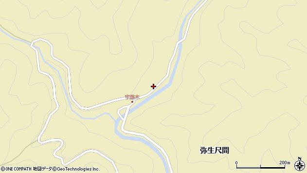大分県佐伯市弥生大字尺間2084周辺の地図