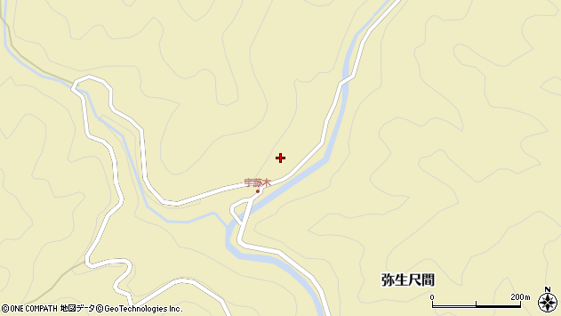 大分県佐伯市弥生大字尺間2082周辺の地図