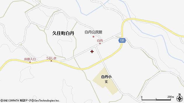 大分県竹田市久住町大字白丹中通周辺の地図