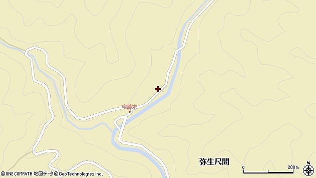大分県佐伯市弥生大字尺間2118周辺の地図