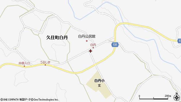 大分県竹田市久住町大字白丹4724周辺の地図