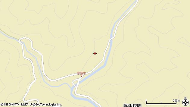 大分県佐伯市弥生大字尺間2096周辺の地図