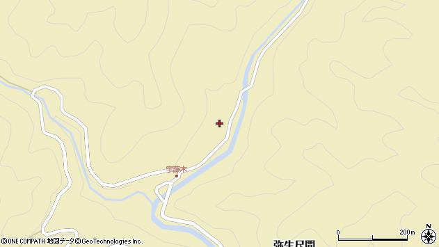 大分県佐伯市弥生大字尺間2108周辺の地図