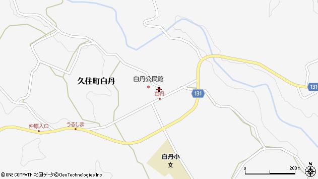 大分県竹田市久住町大字白丹4475周辺の地図