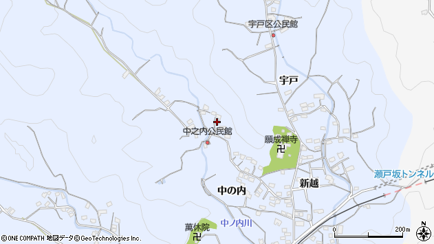 大分県佐伯市戸穴1740周辺の地図