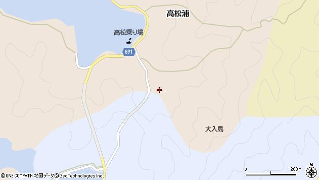 大分県佐伯市高松浦260周辺の地図