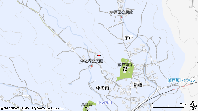 大分県佐伯市戸穴中の内区周辺の地図