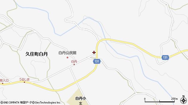 大分県竹田市久住町大字白丹4494周辺の地図