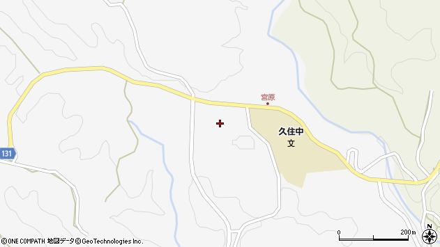 大分県竹田市久住町大字白丹宮原周辺の地図