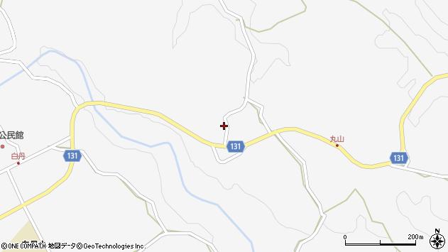 大分県竹田市久住町大字白丹2424周辺の地図