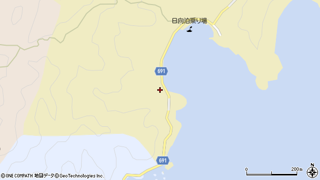 大分県佐伯市日向泊浦516周辺の地図