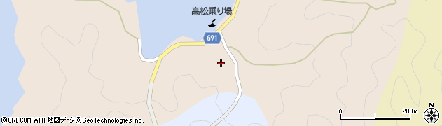 大分県佐伯市高松浦207周辺の地図