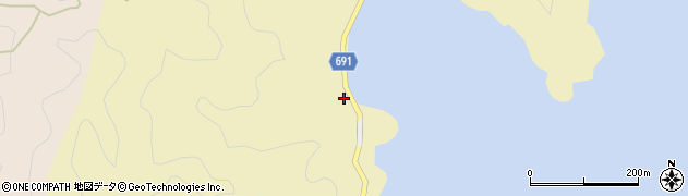 大分県佐伯市日向泊浦517周辺の地図