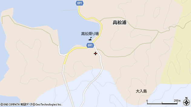 大分県佐伯市高松浦199周辺の地図