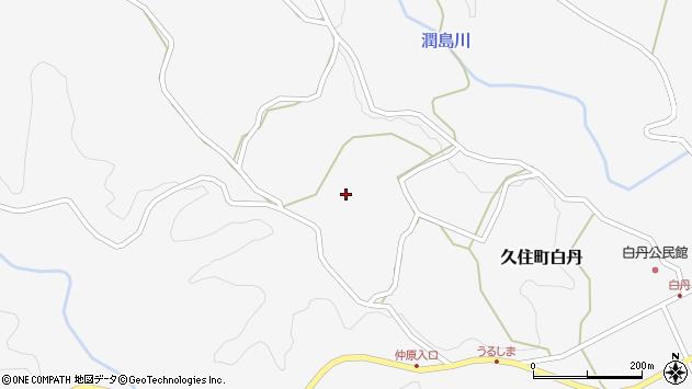 大分県竹田市久住町大字白丹4445周辺の地図